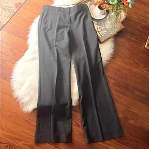Theory gray emery wide leg dress pants 6